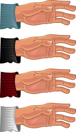 dime: Male hand in color shirt Illustration