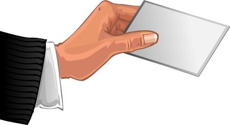 dime: Mens hend wis card Illustration