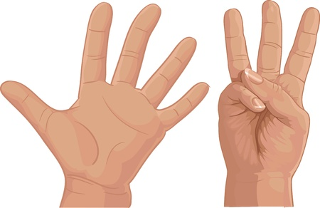 ring finger: eight from fingers Illustration