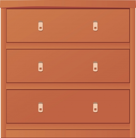 light-coloured chest of drawers  Vector