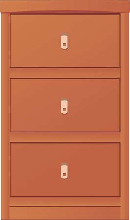 light-coloured cupboard Vector