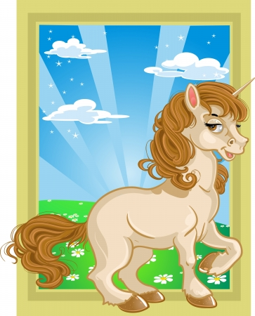Pretty fabulous unicorn Stock Vector - 15660607