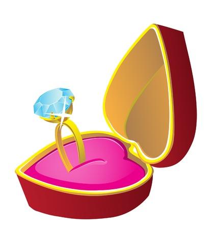 anillo de bodas Ilustración de vector