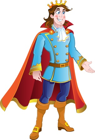 cartoon king: vector Prince charming