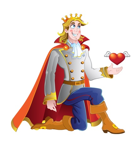 Prince ask princess hand in marriage Vector
