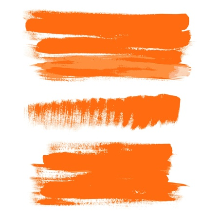 orange gouache brush strokes - the perfect backdrop for your text Stock Vector - 15660674