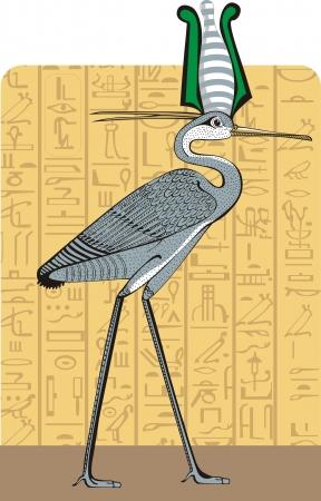divinit�: Ibis fond sur l'Egypte