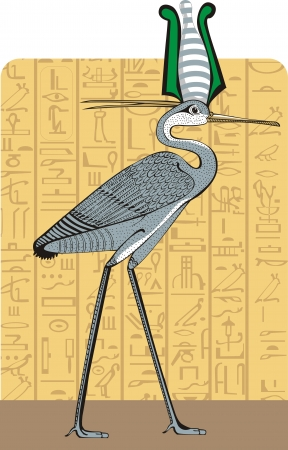 Ibis on Egypt background Vector
