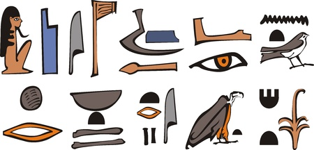 hieroglyphs: Egypt ieroglyph Illustration