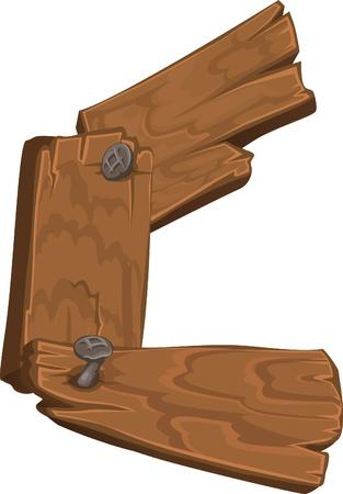 font alphabet: wooden alphabet - letter C Illustration