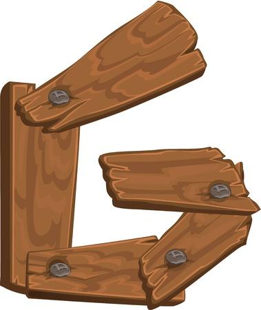 wooden alphabet - letter G