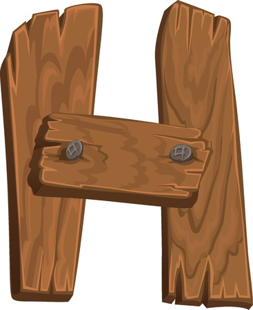 wooden alphabet - letter H