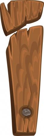 houten alfabet - brief die ik Vector Illustratie