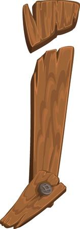 comunicación escrita: de madera alfabeto - letra J Vectores