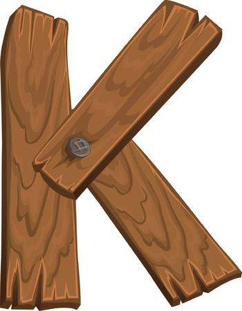 wooden alphabet - letter K