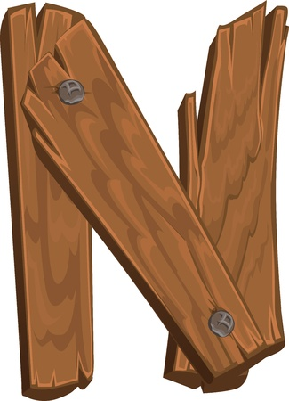 Alphabet en bois - lettre N