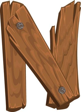 comunicaci�n escrita: de madera alfabeto - letra N