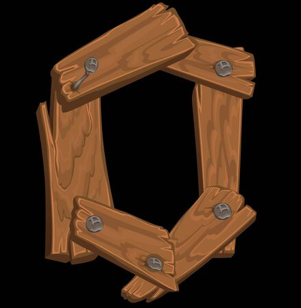 typesetting: wooden alphabet - letter O on black background Illustration