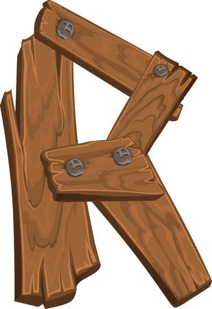 houten alfabet - letter R