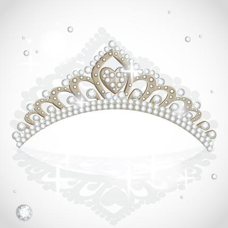 corona reina: Shining tiara con diamantes