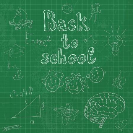escuela primaria: Volver a la junta escolar doodles fondo