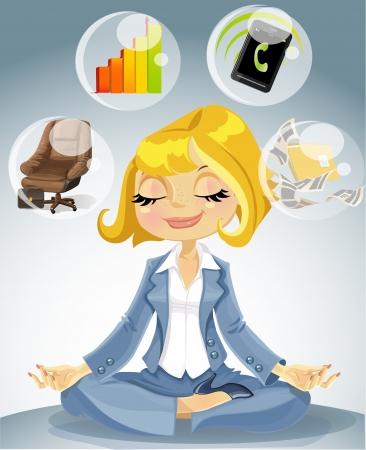 Office Yoga Vektorgrafik