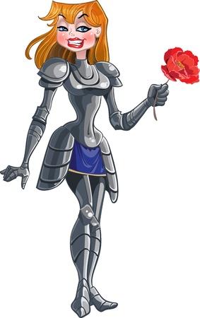 regard: princess knight with red flower