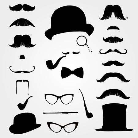 Moustaches et autres accessoires rétro