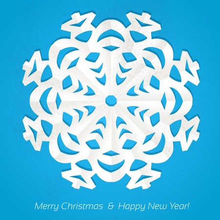 Applique snowflake Christmas card Vector