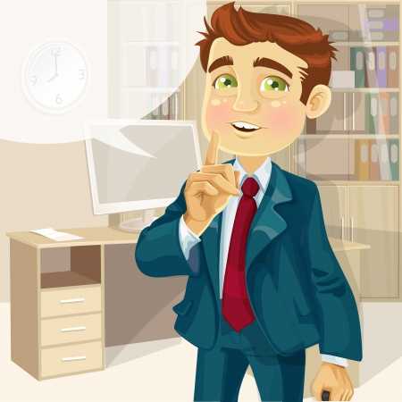 Business man in office asked to be quiet Stock Vector - 16435284