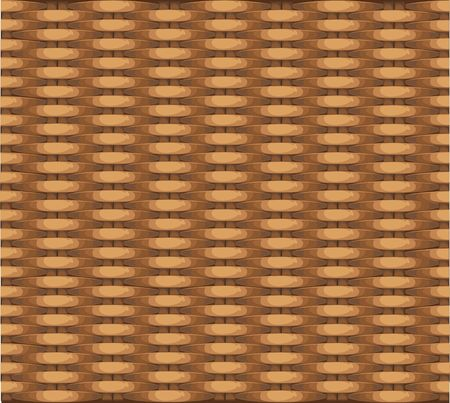 Seamless texture of wicker baskets for your design Vector