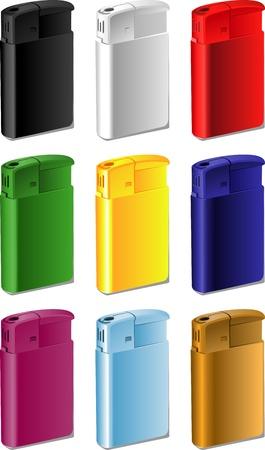 Color souvenir lighter for your print Stock Vector - 16435165