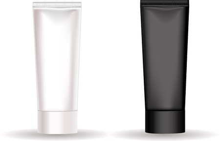 beautify: Black and white tube for cream or another cosmetic remedy