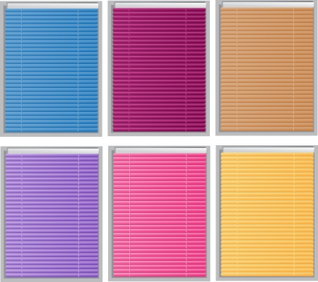 Color Venetian blind Vector