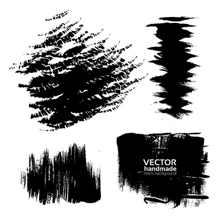 Handdrawing texture brush strokes of ink Stock Vector - 16683376