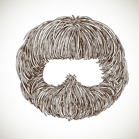 fake mustaches: Neat beard