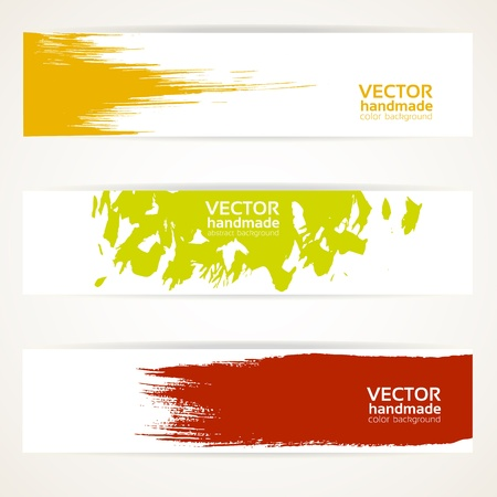 Abstract color vector banner set Vector