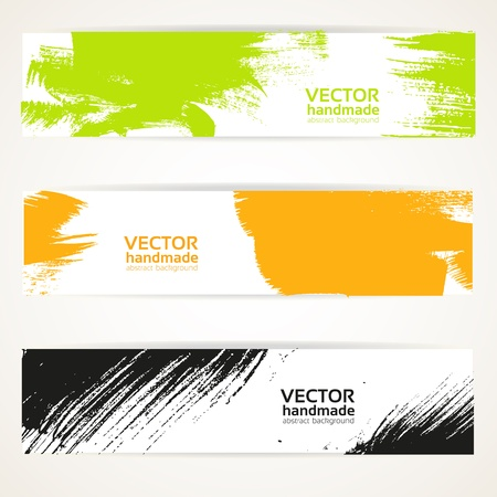 Abstract color vector handdraw banner set Stock Vector - 16761492