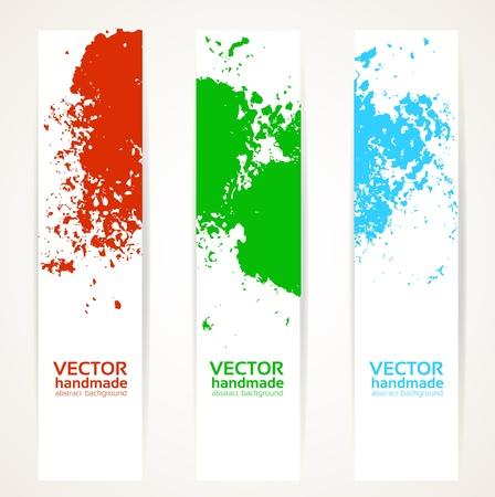 Abstract vertical handdrawing banner set Stock Vector - 16916111