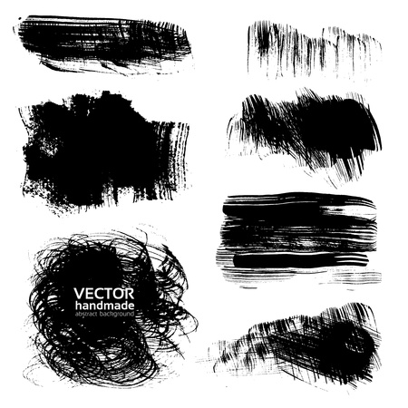 Backgrounds of painted brush strokes of ink paint Stock Vector - 16916113