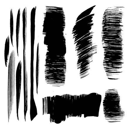 brush strokes: Abstract black vector brush strokes Illustration