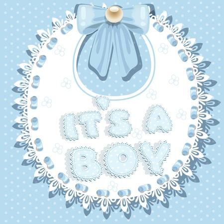 bib: it`s a boy baby shower on bib