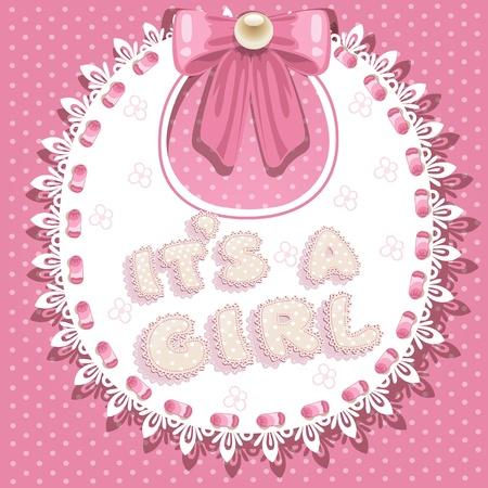 it `is een meisje baby douche op roze slabbetje