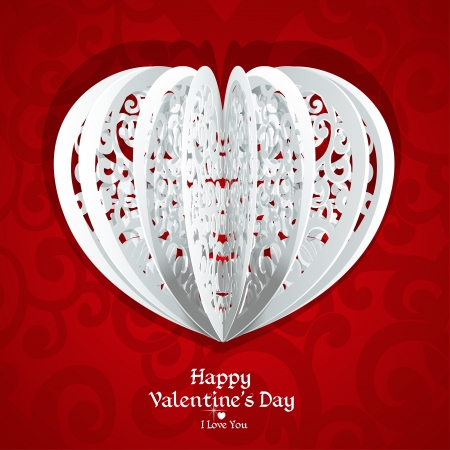 Delicate Valentine card for your congratulatory text Stock Vector - 17123024