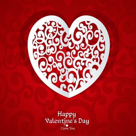 Delicate Valentine card applique Stock Vector - 17157665