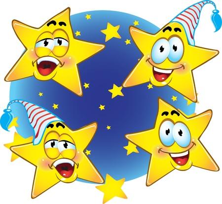 sweet dreams: Cute smiling stars Illustration