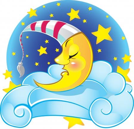 Sweet sleeping moon  Иллюстрация