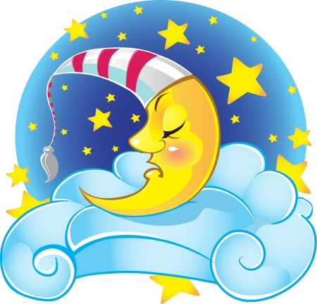 Sweet sleeping moon  Vector