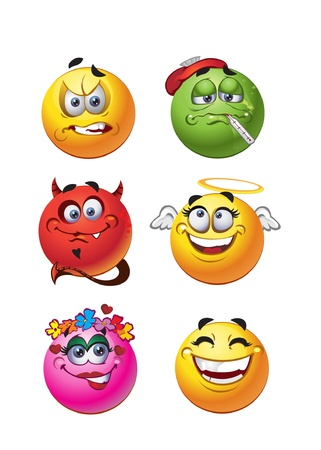 character set: Emotions smiles