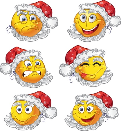 New year fun smiles Vector